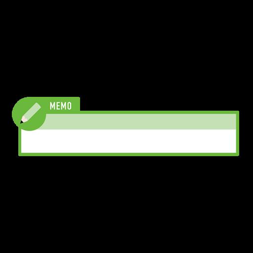 緑色の鉛筆アイコンの縦長ボトムテロップのイラスト