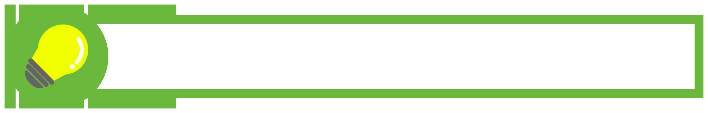 緑色の電球アイコンのボトムテロップのイラスト素材
