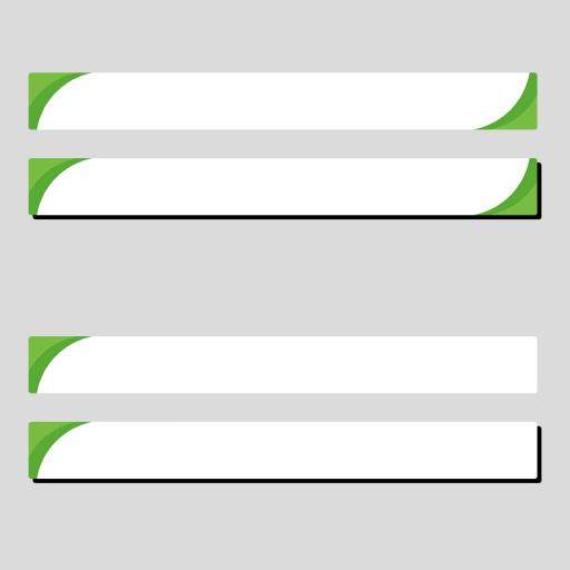 緑色のシンプルなボトムテロップセットのイラスト