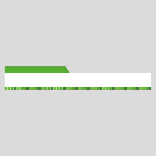 タイル柄の緑色ボトムテロップのイラスト