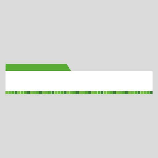緑色タイル柄の縦長ボトムテロップのイラスト