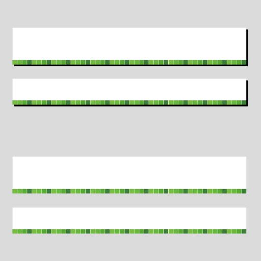 緑色のタイル柄のボトムテロップセットのイラスト