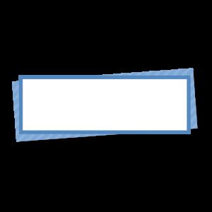 青い折り紙風の右上テロップのイラスト