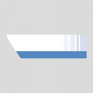 青いニュース風の右上テロップのイラスト