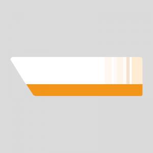 オレンジ色のニュース風の右上テロップのイラスト