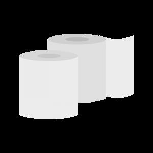 シンプルなトイレットペーパーのイラスト