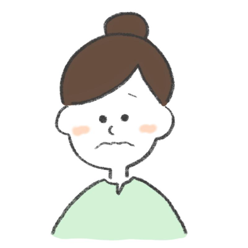 困っている女性のイラスト