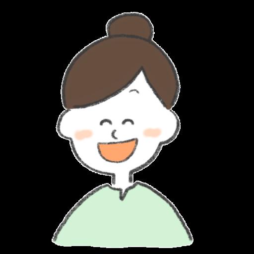 笑っている女性のイラスト