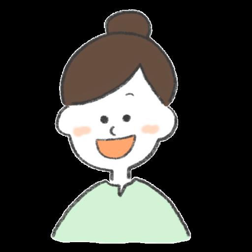 ほほえんでいる女性のイラスト