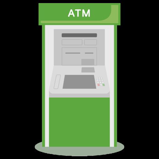 ゆうちょ銀行ATM風のイラスト