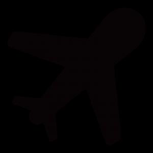 飛行機のアイコンのイラスト