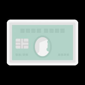 アメリカン・エキスプレス・カード(アメックスグリーンカード)風のイラスト