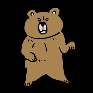 立ってるクマのイラスト