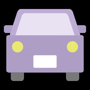 紫色の車のイラスト