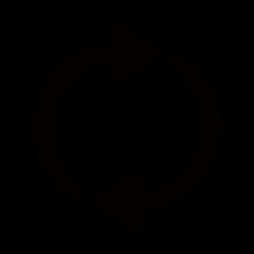 回転する丸い矢印のイラスト