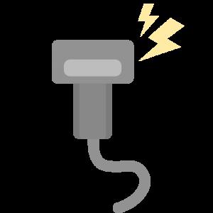 脱毛で使う照射する機械のイラスト
