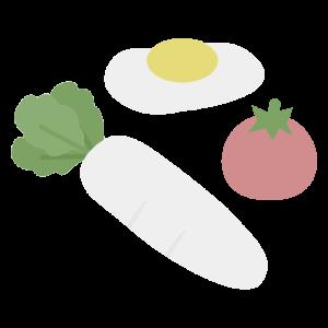 シンプルな食材セットのイラスト
