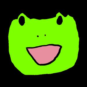 ヘタウマなカエルのイラスト