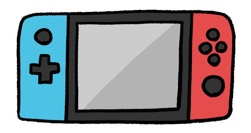 ニンテンドースイッチ風のゲーム機イラスト