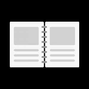 シンプルなノートのイラスト