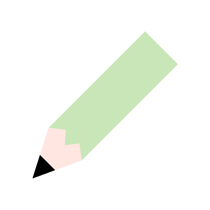 緑色の鉛筆のイラスト