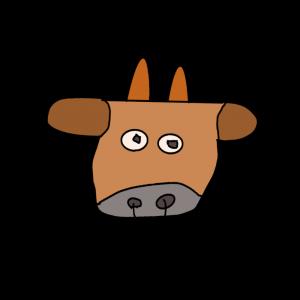 ヘタウマなジャージ牛のイラスト