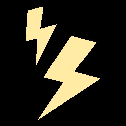 黄色い雷マークのイラスト