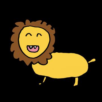ヘタウマなライオンのイラスト