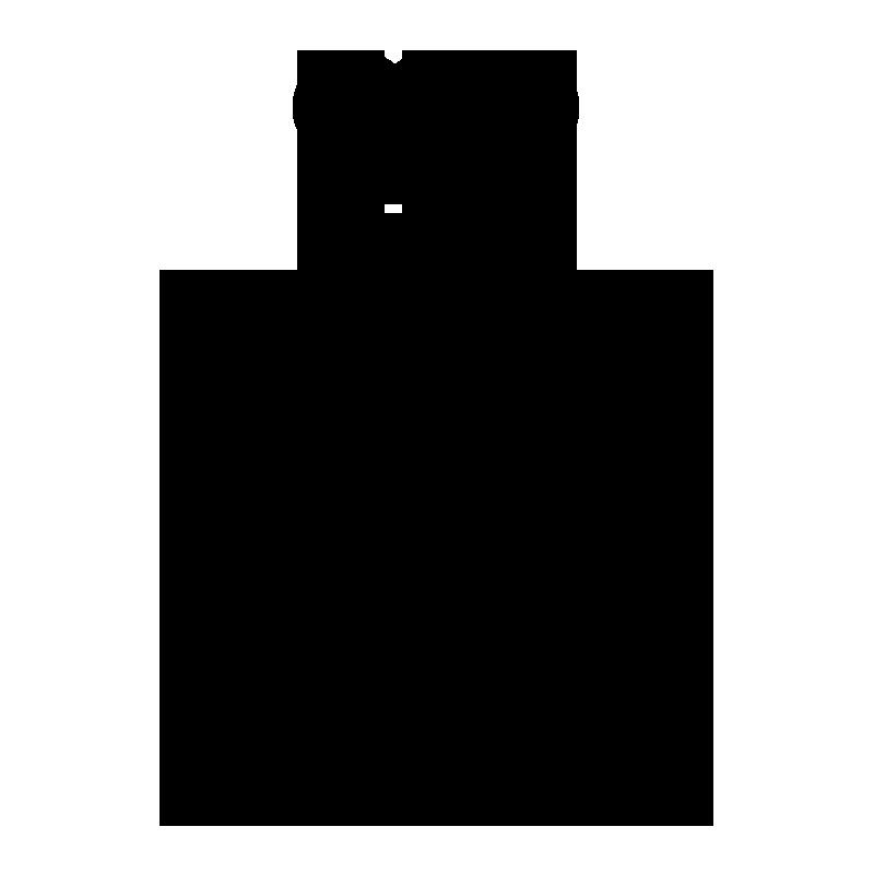 お金袋の白黒アイコンのイラスト
