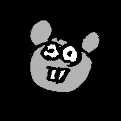 ヘタウマなネズミのイラスト