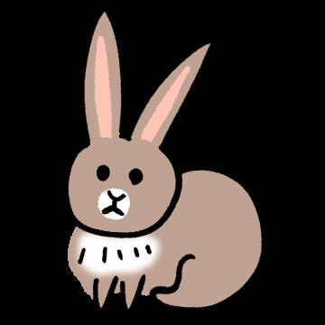 茶色いウサギのイラスト