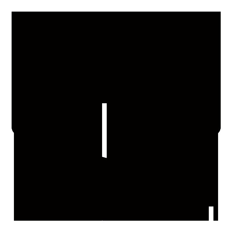 黒色の設定の歯車アイコンのイラスト