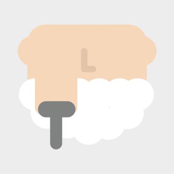 髭剃りのアイコンのイラスト