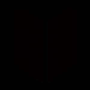 黒色の初心者マークのアイコンのイラスト