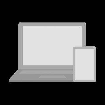 ノートパソコンとスマートフォンのイラスト