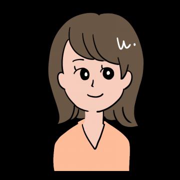 にっこりとした表情をしている茶髪の20代OL風女性のイラスト