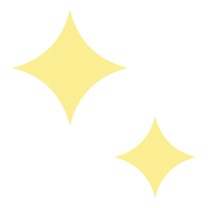 黄色のキラキラマークのイラスト