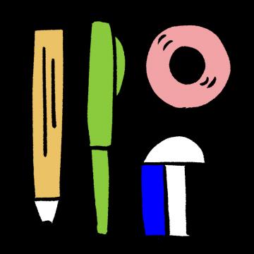 文房具セットのイラスト