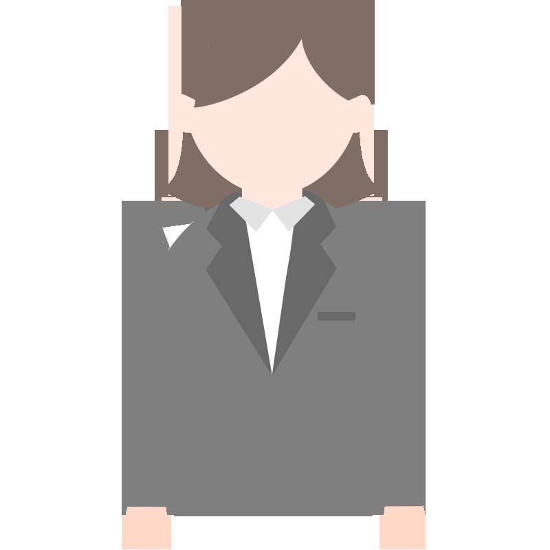 スーツを着た女性のイラスト