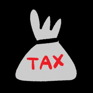 税金をイメージしたイラスト