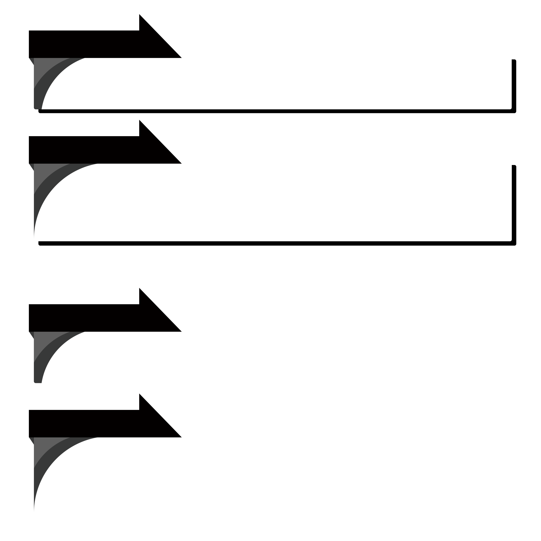 黒色のニュース風のボトムテロップセットのイラスト
