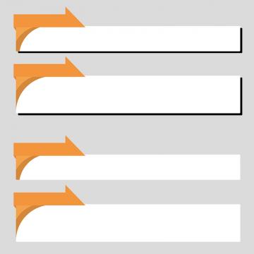 オレンジ色のニュース風のボトムテロップセットのイラスト