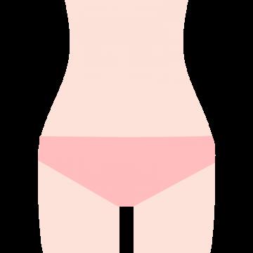 女性のVIO脱毛をイメージしたイラスト