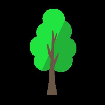 1本の木のイラスト