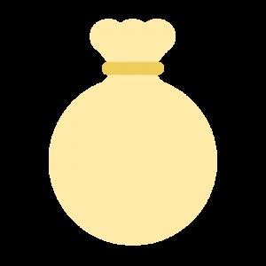 黄色のお金袋のイラスト