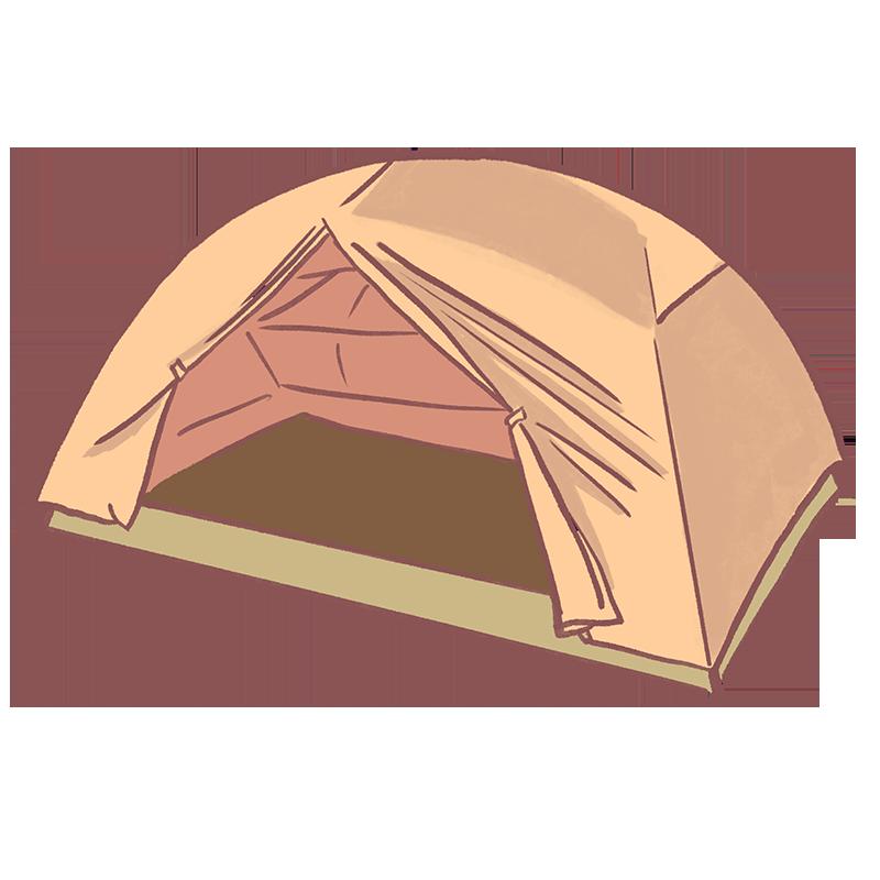 キャンプ用テントのイラスト