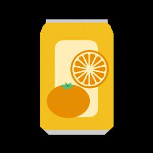 缶のオレンジジュースのイラスト