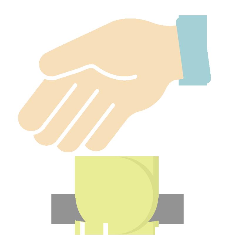 硬貨を寄付・貯金するイラスト
