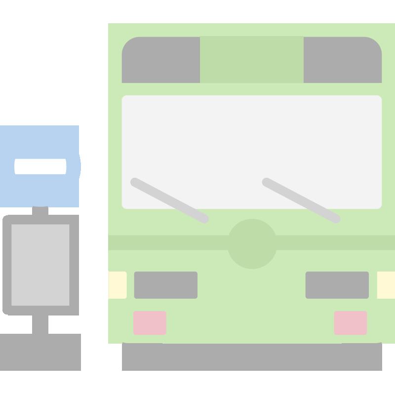 正面のバスのイラスト