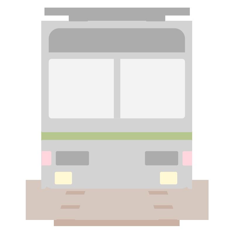 正面の電車のイラスト